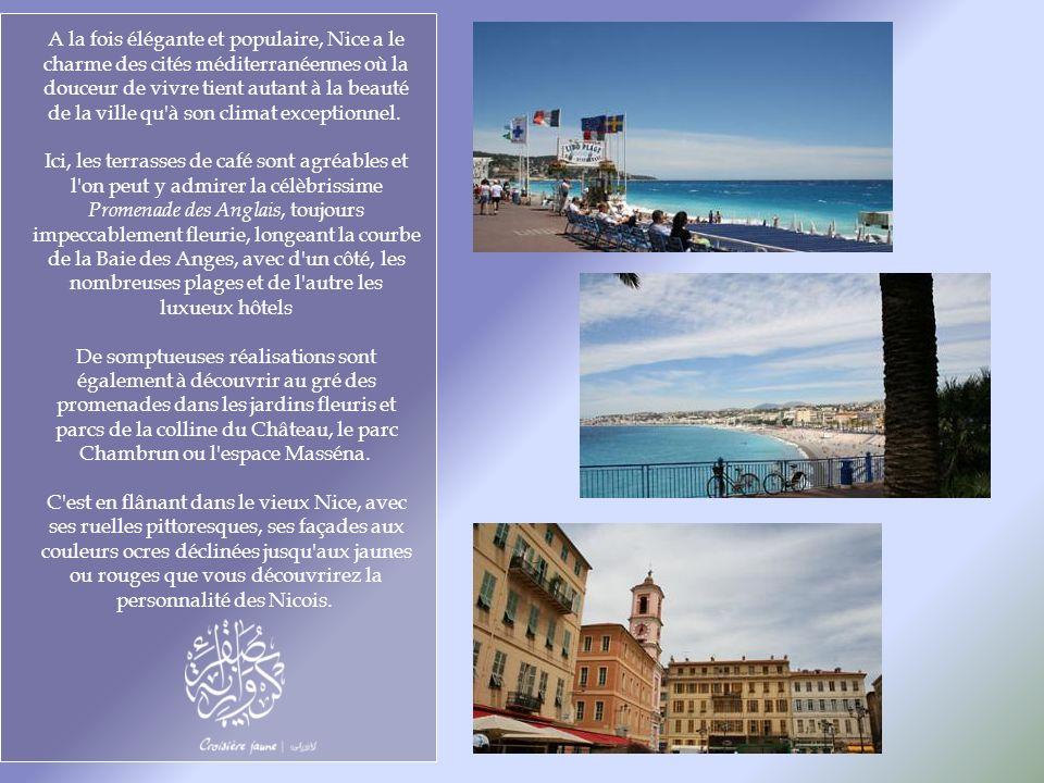 A la fois élégante et populaire, Nice a le charme des cités méditerranéennes où la douceur de vivre tient autant à la beauté de la ville qu à son climat exceptionnel.