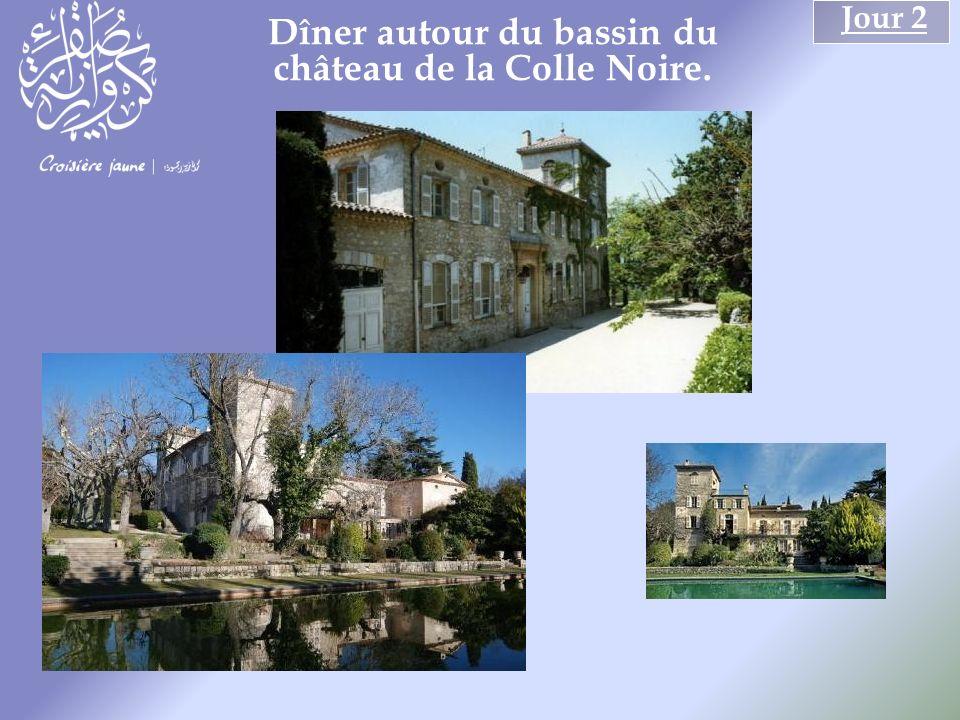 Jour 2 Dîner autour du bassin du château de la Colle Noire.