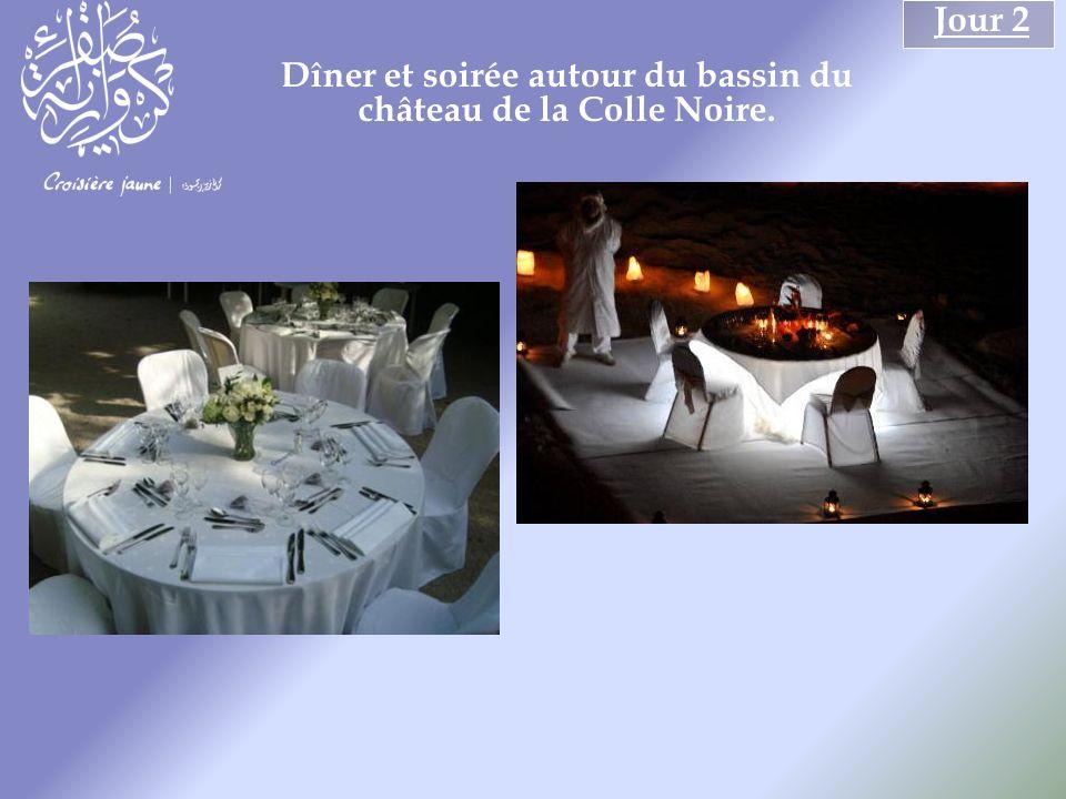 Jour 2 Dîner et soirée autour du bassin du château de la Colle Noire.