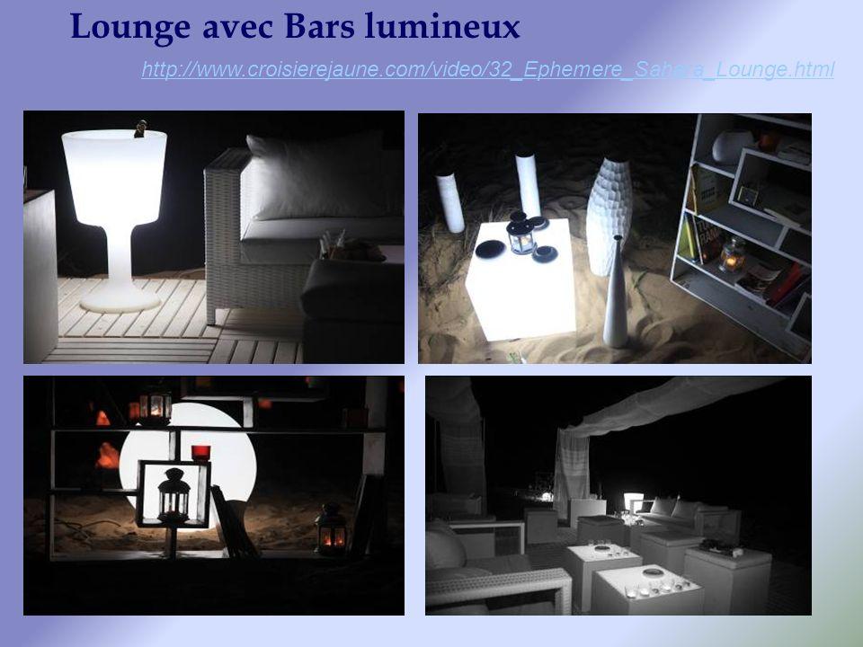 Lounge avec Bars lumineux http://www.croisierejaune.com/video/32_Ephemere_Sahara_Lounge.html