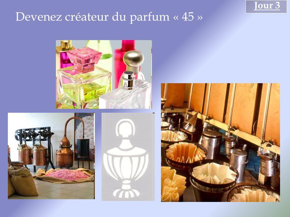 Devenez créateur du parfum « 45 » Jour 3