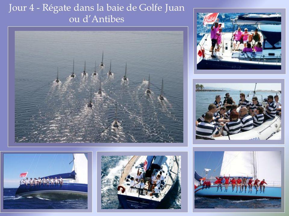 Jour 4 - Régate dans la baie de Golfe Juan ou dAntibes
