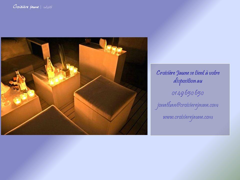 Croisière Jaune se tient à votre disposition au 01 49 650 650 jonathan@croisierejaune.com www.croisierejaune.com