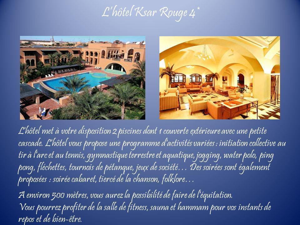 L'hôtel met à votre disposition 2 piscines dont 1 couverte extérieure avec une petite cascade. L'hôtel vous propose une programme d'activités variées