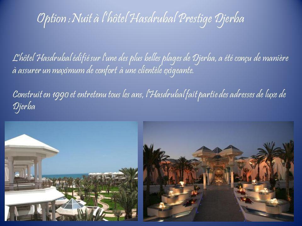 L'hôtel Hasdrubal édifié sur l'une des plus belles plages de Djerba, a été conçu de manière à assurer un maximum de confort à une clientèle exigeante.