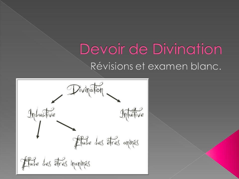 Une méthode de divination où on lit lavenir dans le marc de café Cest de la divination Inductive Etudes dêtres inanimés.