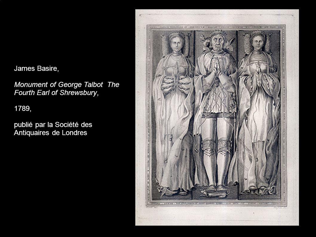 Attribué à William Blake, Le Roi Sebert et le Roi Henry III (détail) 1778, plume, encre de couleur et dorée sur papier, Publié par la Société des Antiquaires de Londres.