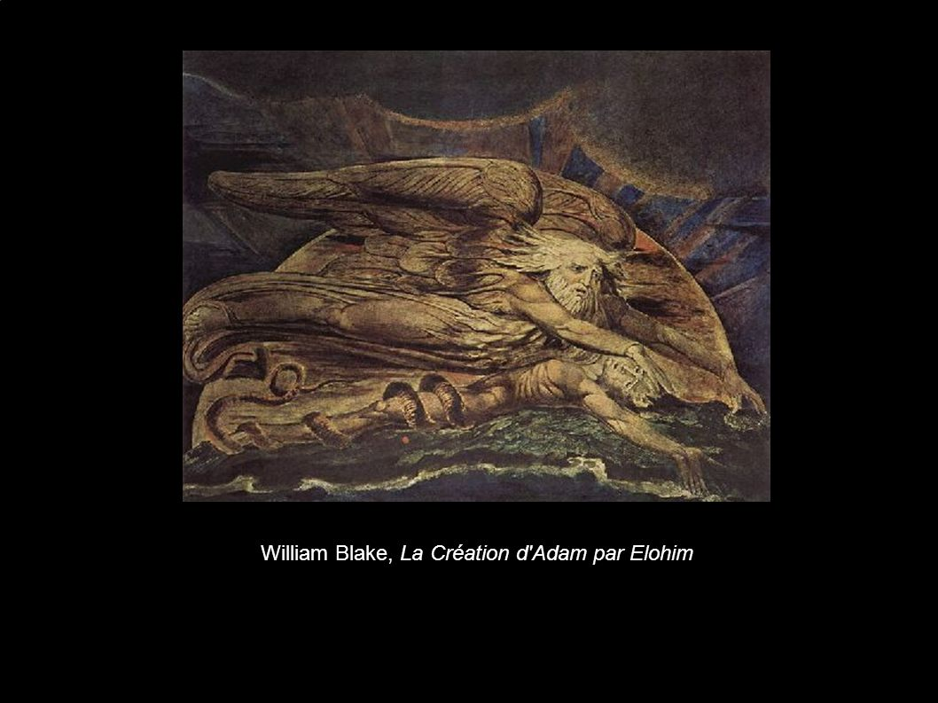 William Blake, La Création d Adam par Elohim