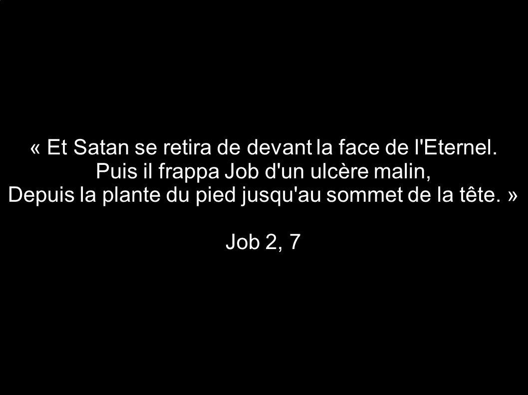 « Et Satan se retira de devant la face de l Eternel.