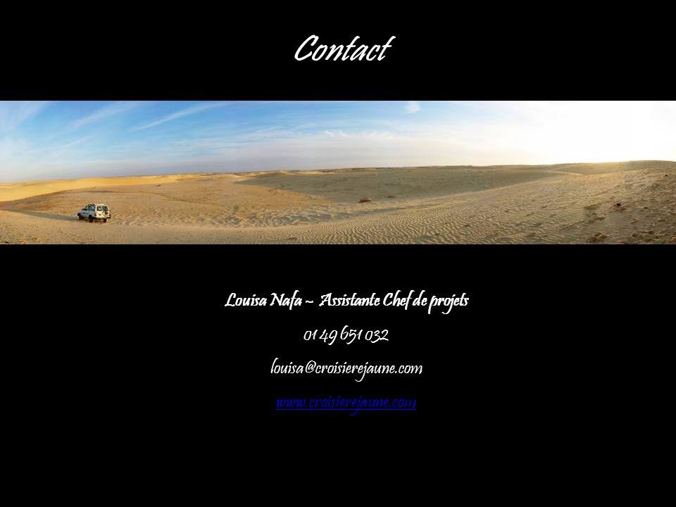 Louisa Nafa – Assistante Chef de projets 01 49 651 032 louisa@croisierejaune.com www.croisierejaune.com Contact