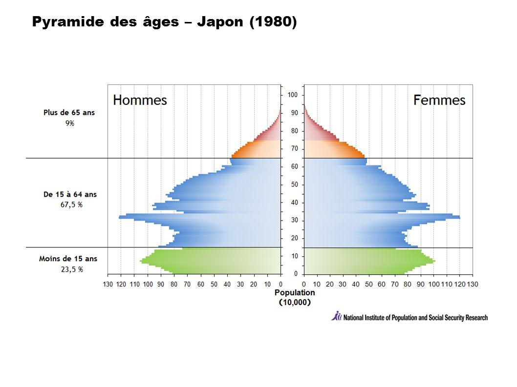 Pyramide des âges – Japon (1980)