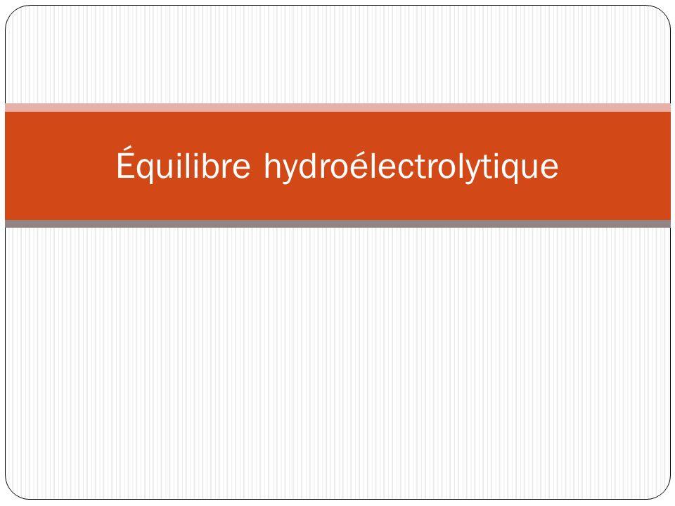 Équilibre hydroélectrolytique