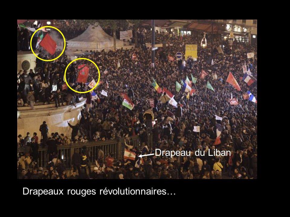 Drapeaux rouges révolutionnaires… Drapeau du Liban
