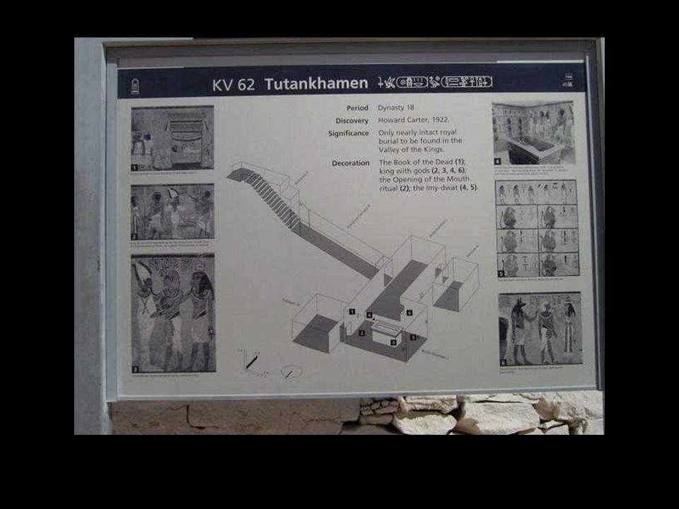 Vallée des Rois, entrée du tombeau de Toutankhamon