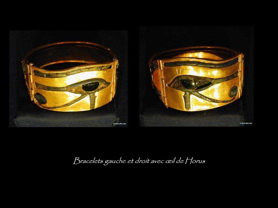 Bracelets droit et gauche avec œil de Horus
