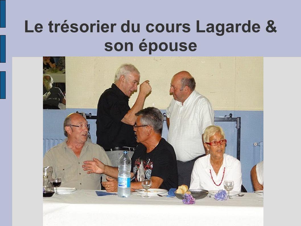 Le trésorier du cours Lagarde & son épouse
