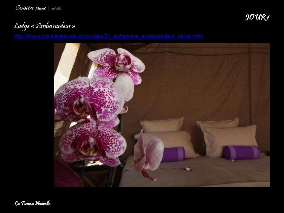 Lodge « Ambassadeur » http://www.croisierejaune.com/video/31_ephemere_ambassadeur_camp.html JOUR 1 La Tunisie Nouvelle