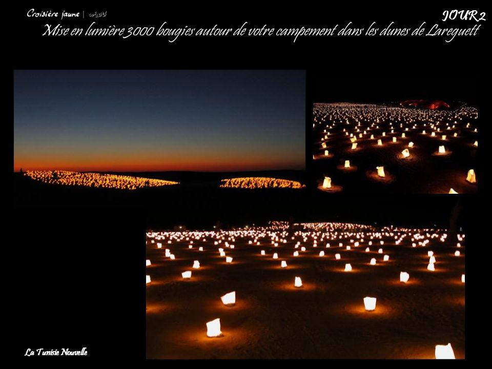 Mise en lumière 3000 bougies autour de votre campement dans les dunes de Lareguett La Tunisie Nouvelle JOUR 2