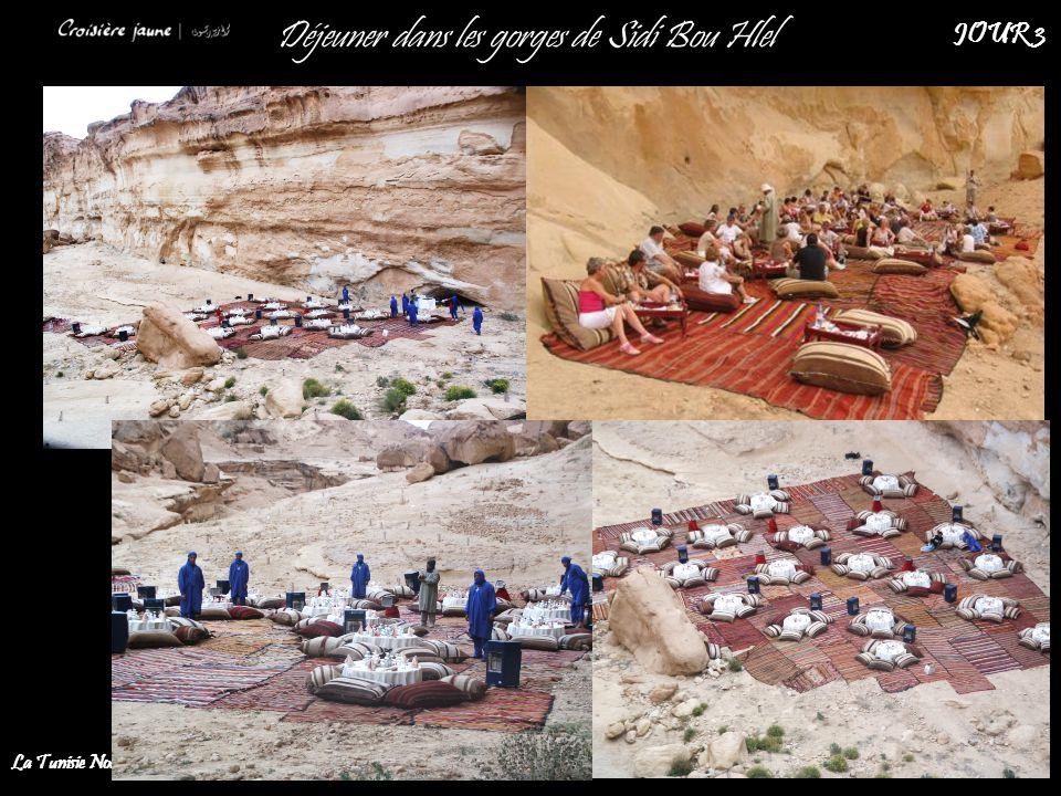 Déjeuner dans les gorges de Sidi Bou Hlel La Tunisie Nouvelle JOUR 3