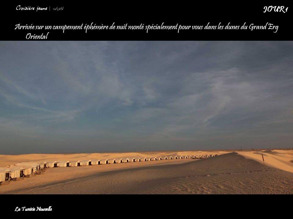 Arrivée sur un campement éphémère de nuit monté spécialement pour vous dans les dunes du Grand Erg Oriental La Tunisie Nouvelle JOUR 1