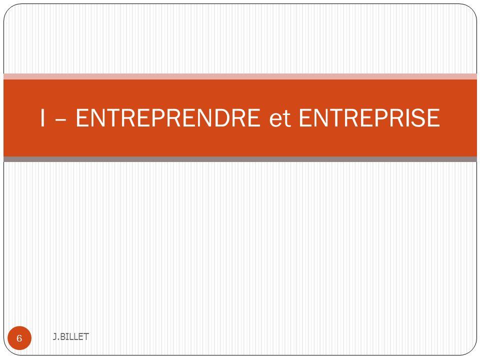 Lapproche centrée sur le processus début années 90 J.BILLET 27 Lentrepreneuriat est un phénomène complexe et multidimensionnel et de plus, il existe une grande diversité dans les situations entrepreneuriales et les créations dentreprises.
