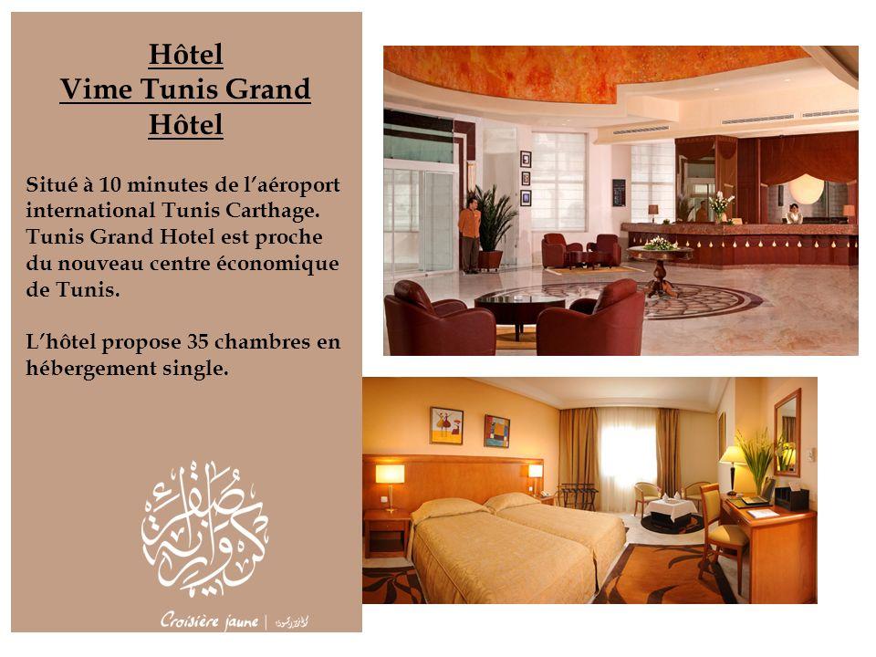 Hôtel Vime Tunis Grand Hôtel Situé à 10 minutes de laéroport international Tunis Carthage. Tunis Grand Hotel est proche du nouveau centre économique d