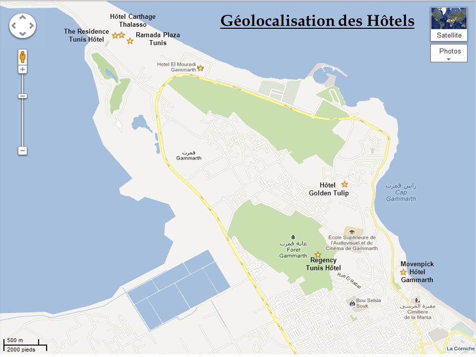 LHôtel Ramada Plaza Situé sur une plage de sable fin des Côtes de Carthage, à 18 Km seulement de Tunis la capitale.