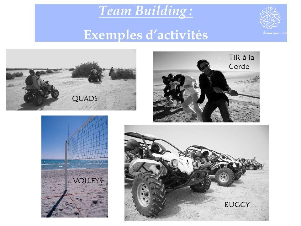 Team Building : Exemples dactivités QUADS VOLLEYS BUGGY TIR à la Corde