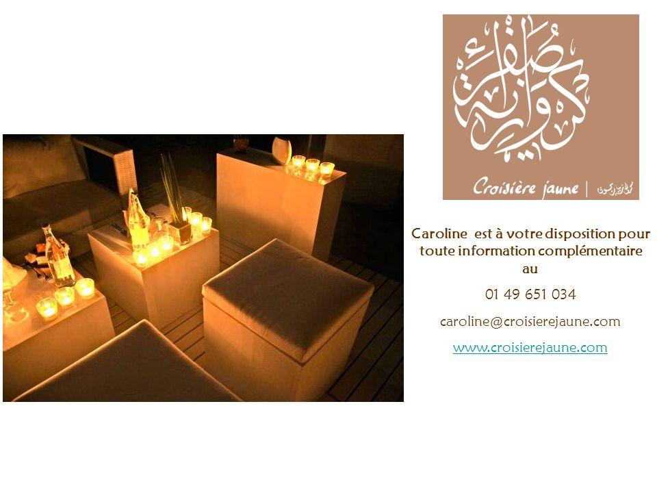 Caroline est à votre disposition pour toute information complémentaire au 01 49 651 034 caroline@croisierejaune.com www.croisierejaune.com La Tunisie