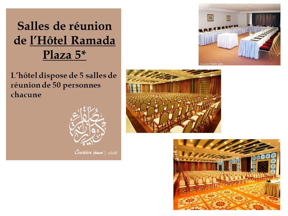 Salles de réunion de lHôtel Ramada Plaza 5* Lhôtel dispose de 5 salles de réunion de 50 personnes chacune