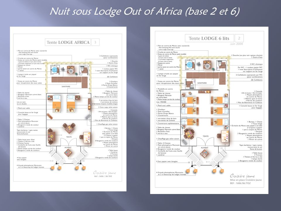 Nuit sous Lodge Out of Africa (base 2 et 6)