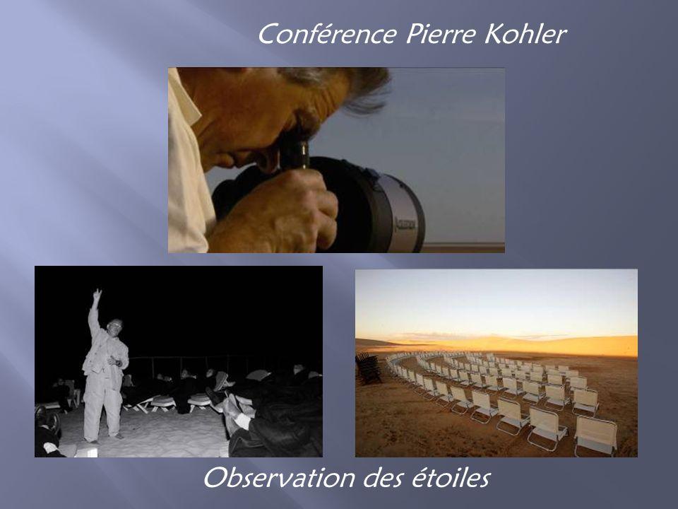 Conférence Pierre Kohler Observation des étoiles