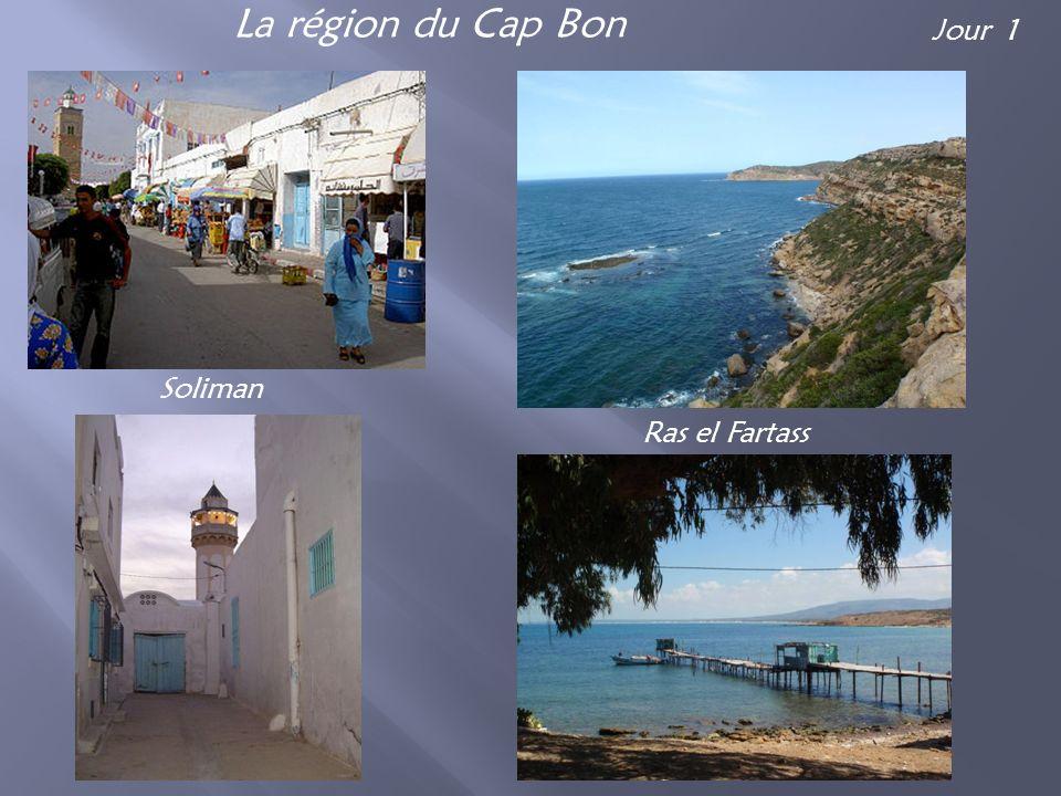 La région du Cap Bon Soliman Ras el Fartass Jour 1