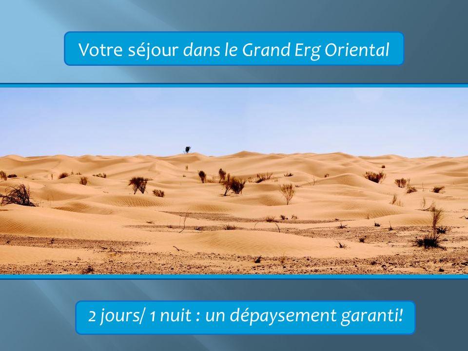 Votre séjour dans le Grand Erg Oriental 2 jours/ 1 nuit : un dépaysement garanti!