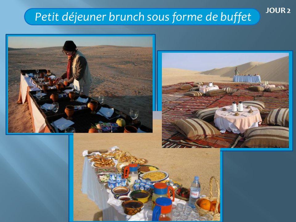 Petit déjeuner brunch sous forme de buffet JOUR 2