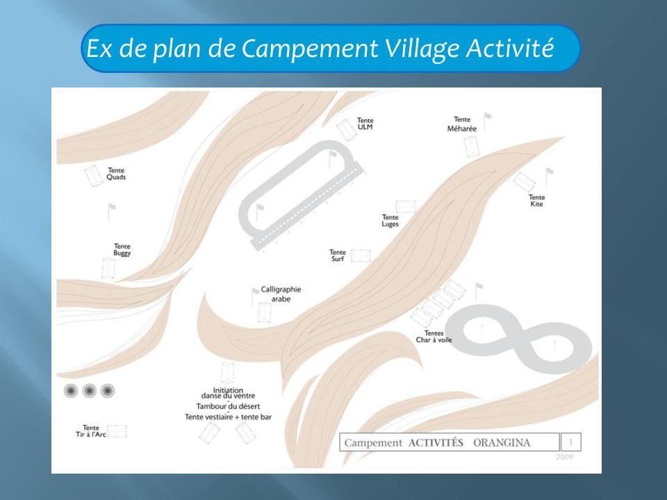 Ex de plan de Campement Village Activité