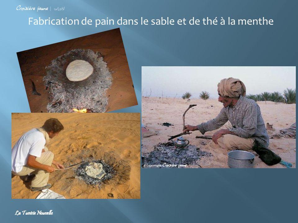 Fabrication de pain dans le sable et de thé à la menthe La Tunisie Nouvelle