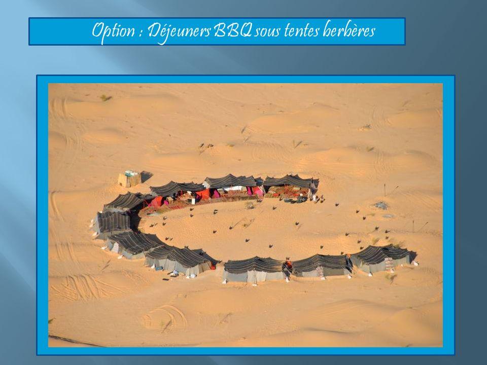 Option : Déjeuners BBQ sous tentes berbères