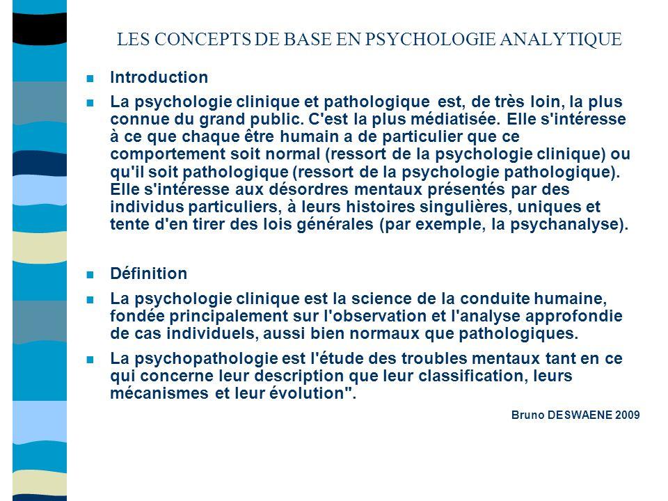 La psychologie clinique suit trois grands objectifs : - La connaissance et la compréhension de la personne totale en situation et en interaction, ce qui passe par la recherche ; - L établissement de diagnostics, par l observation, l analyse, l entretien, les tests...