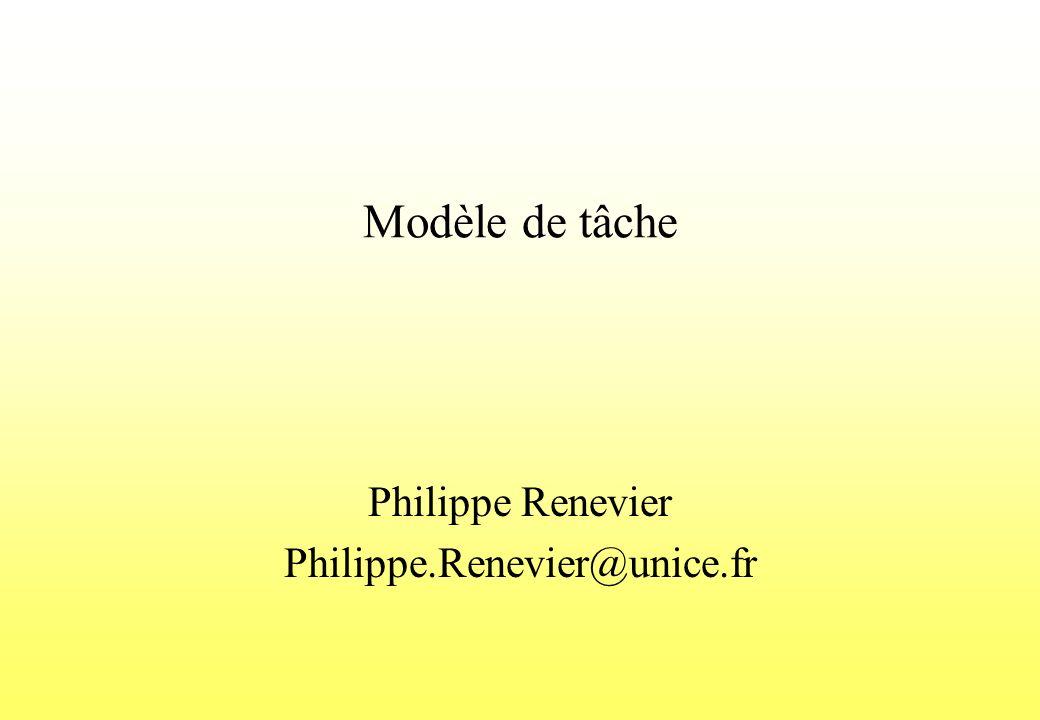 Modèle de tâche Philippe Renevier Philippe.Renevier@unice.fr