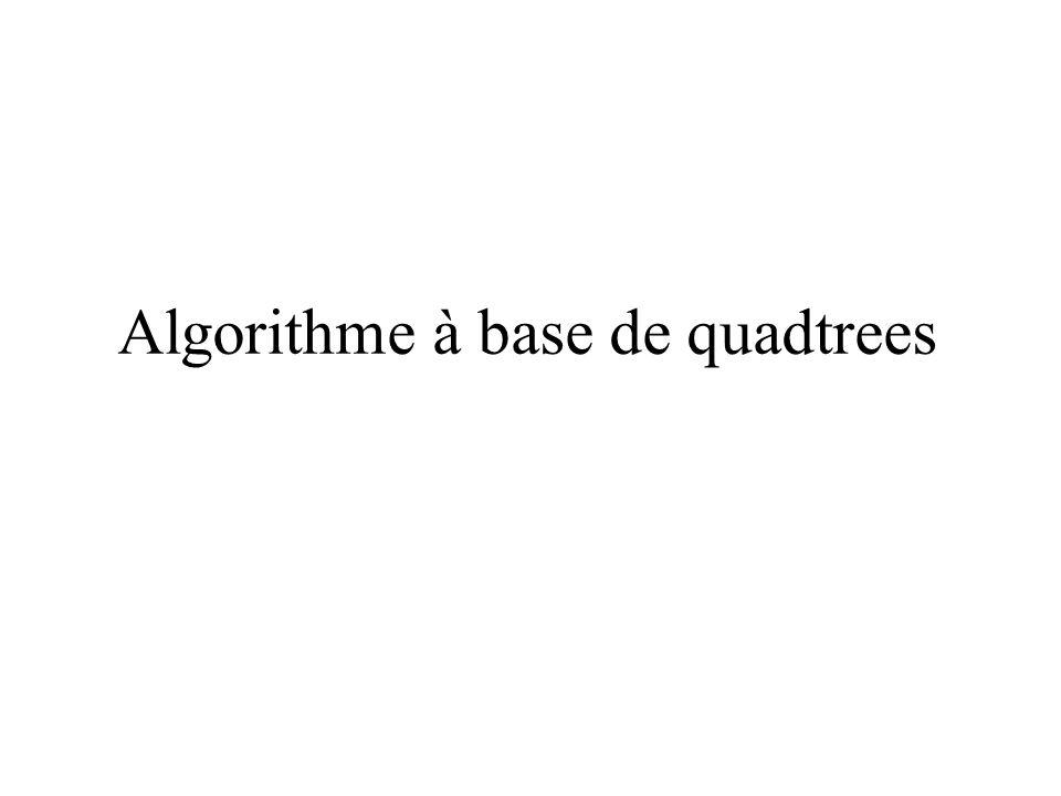 Algorithme à base de quadtrees