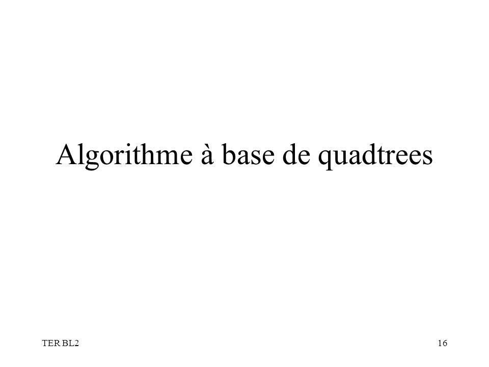 TER BL216 Algorithme à base de quadtrees