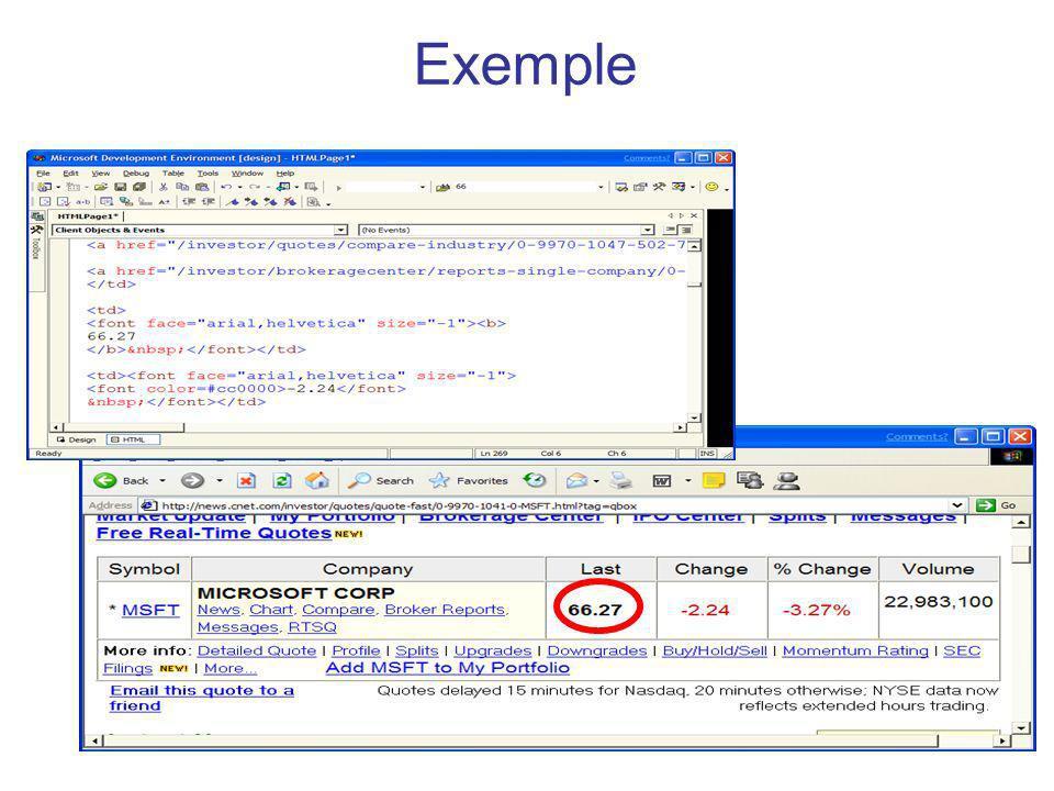 98 Les APIs Java pour les SW XML document management JAXP (Java API for XML processing) JAXB (Java API for XML data-binding) Security XML Encryption (JSR 106) XML Digital Signature (JSR 105) XML Trust Service (JSR 104) Web services security assertions (JSR 155)