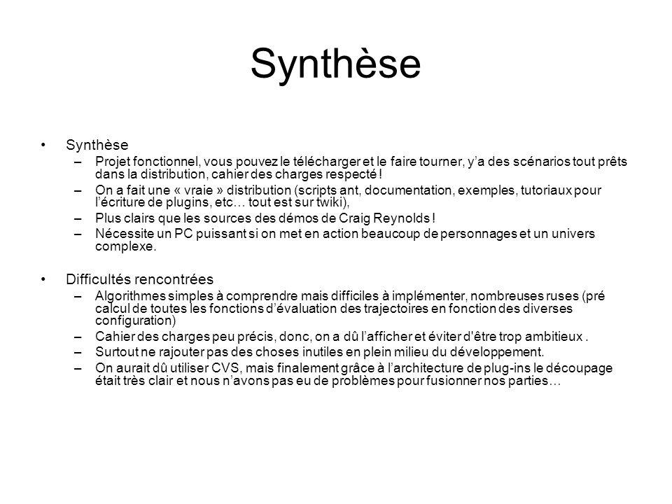 Synthèse –Projet fonctionnel, vous pouvez le télécharger et le faire tourner, ya des scénarios tout prêts dans la distribution, cahier des charges respecté .
