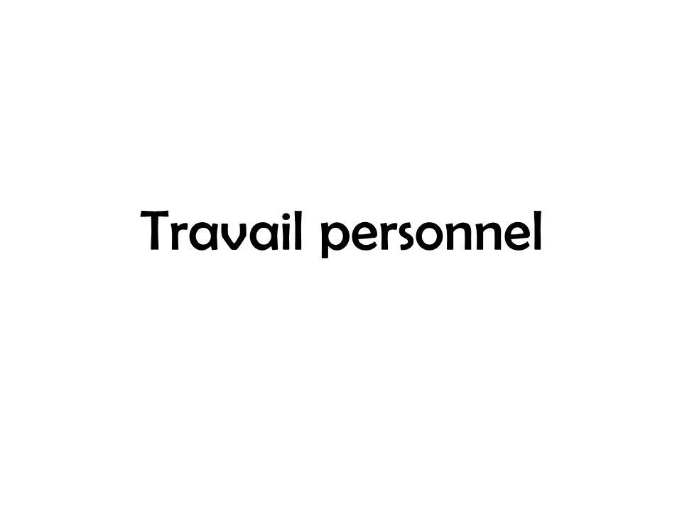 Travail personnel