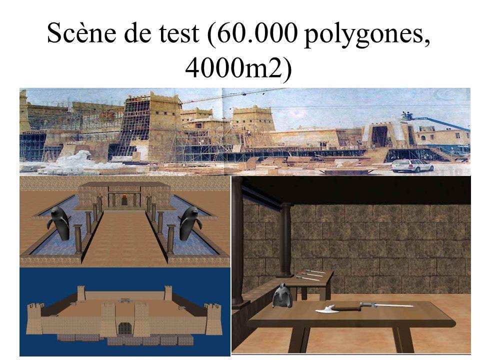 Scène de test (60.000 polygones, 4000m2)