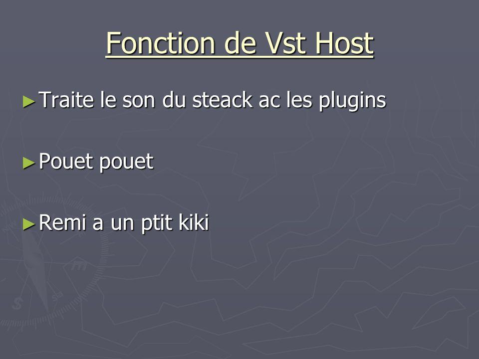 Fonction de Vst Host Traite le son du steack ac les plugins Traite le son du steack ac les plugins Pouet pouet Pouet pouet Remi a un ptit kiki Remi a