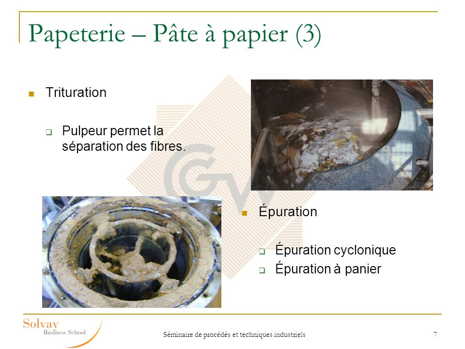 Séminaire de procédés et techniques industriels 18 Cartonnerie – Onduleuse (1) Une onduleuse est composé de sept sections principales : - Poste simple face n°1- Mitrailleuse - Poste simple face n°2- Coupeuse transversale - Poste double face- Tables montantes et descendantes - Tables chauffantes