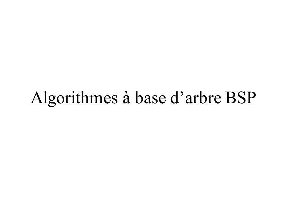Algorithmes à base darbre BSP