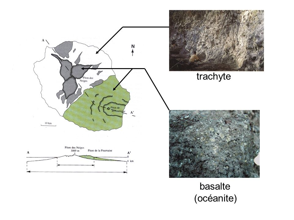 basalte (océanite) trachyte
